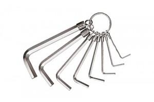 Набор шестигранных штифтовых ключей на кольце 8 шт. WIHA 01180