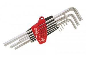 Набор шестигранных штифтовых ключей ProStar, длинных 9 шт. WIHA 07181