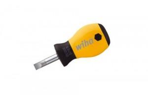 Укороченная шлицевая отвертка SoftFinish ESD 6,5 x 25 мм WIHA 32153