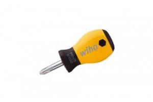 Укороченная шлицевая отвертка SoftFinish ESD PH2 x 25 мм WIHA 32155