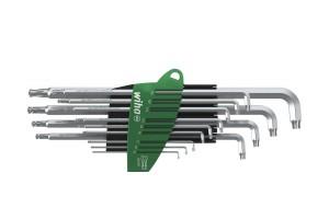 Набор штифтовых ключей TORX® со сферической головкой титаново-серебристых 13 шт. WIHA 40979