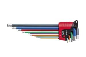 Набор ключей 6-тигранных SB 369E9F ErgoStar coloured, 9 шт. WIHA 43849