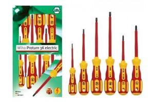 Набор отверток Proturn 3K electric со шлицем и Phillips, 6 шт. WIHA 25473
