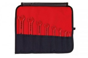 Набор изолированных рожковых гаечных ключей 8 шт. WIHA 33180