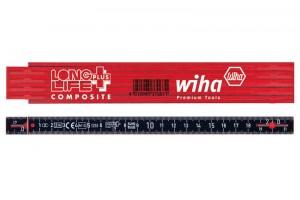 Складной метр Longlife Plus Composite 2 м метрический 10 звеньев WIHA 37309